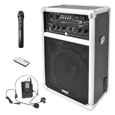 Pyle PWMA170 Dual Microphone 400w Wireless PA System Busking Battery Powered Thumbnail 1