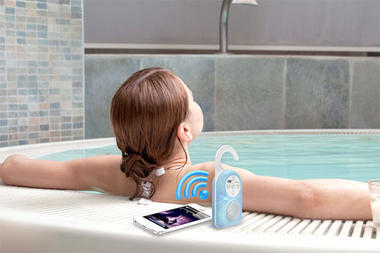 Pyle PWPBT10GN Bluetooth Bathroom Waterproof Shower Speaker & Hands Free AUX In Thumbnail 2