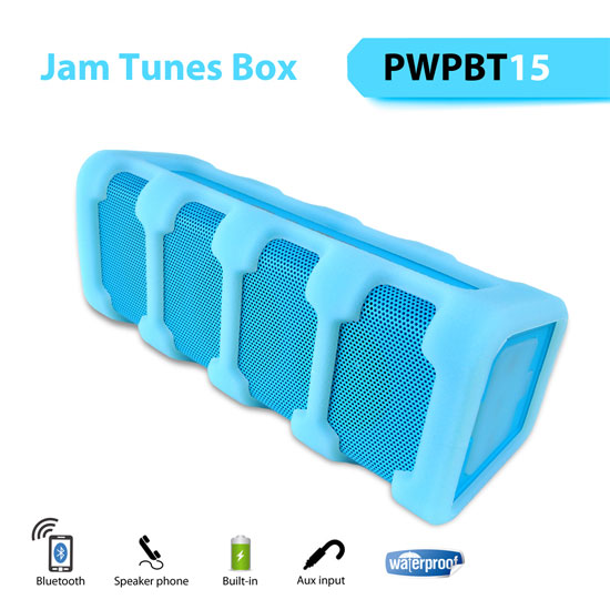 Pyle PWPBT15OR Splash Proof Bluetooth Speaker W/ Aux-In & Speaker-Phone Thumbnail 3