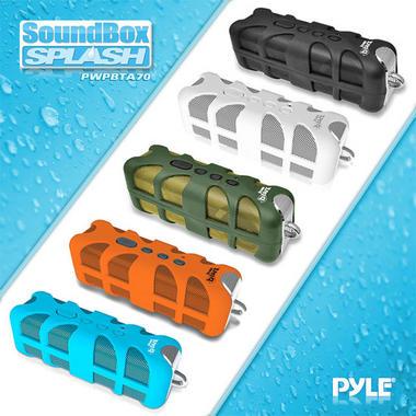 Pyle PWPBTA70BK Splash-Proof Bluetooth Wireless Outdoor Rechargeable Speaker Thumbnail 2
