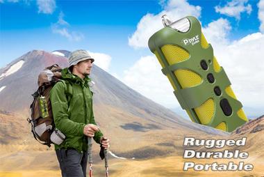 Pyle PWPBTA70BK Splash-Proof Bluetooth Wireless Outdoor Rechargeable Speaker Thumbnail 4