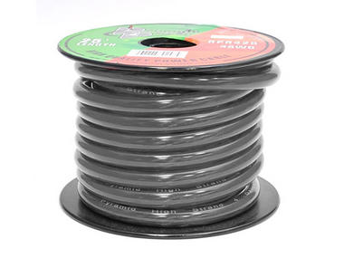 RPB425 12v 4 AWG Gauge Black Amp Wiring Ground Wire 25 ft. OFC Copper Thumbnail 1