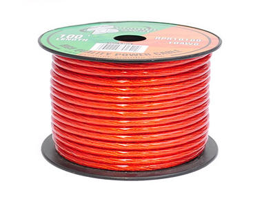 Pyramid RPR10100 10 Awg Gauge Clear Red Car Audio Amplifier Power Wire 100ft OFC Thumbnail 1