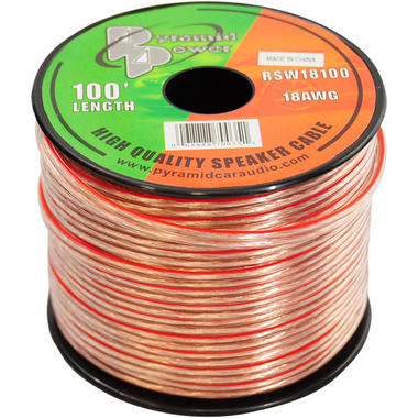 Pyramid RSW18100 18 Gauge 100 ft. Spool of High Quality Speaker Zip Wire Thumbnail 1