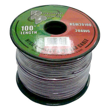 Pyramid RSW20100 20 Gauge 100 ft. Spool of High Quality Speaker Zip Wire Thumbnail 1