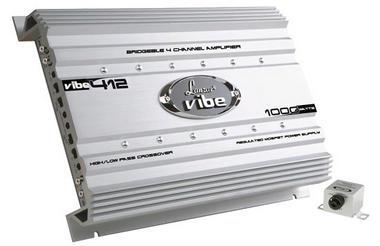 Lanzar 4 Ch Four Channel 1000w Silver Bridgeable Car Speaker Amplifier Amp Thumbnail 1