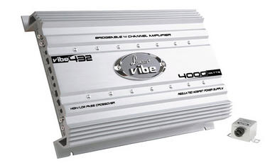Lanzar VIBE432 Vibe 4000W 4 Channel Bridgeable Full Range Car Amp Amplifier Thumbnail 1
