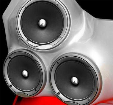 Lanzar VSMR8 Vibe Bullet Series Lanzar 600-Watt 8-Inch Mid-Range Speaker Thumbnail 3