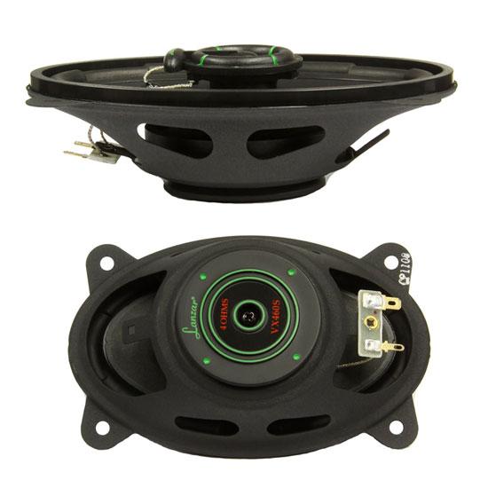 Lanzar VX460S VX 4'' x 6'' Two-Way Slim Mount Speakers Coaxial Car Door Shelf Thumbnail 2