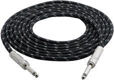 Pyle PCBL1F12 Quality 12 Ft 1/4'' Jack To 1/4'' Guitar Instrument Amp Cable