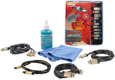 Pyle Gold Plated 6ft HDMI Toslink Component Cables And LCD Cleaning Kit