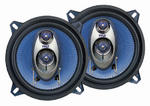 "Pyle Blue 5.25"" 13cm 130mm 400w Car Door Shelf Three Way Coaxial Speakers Pair"