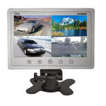 "Pyle PLHRQD9W 9"" Quad TFT LCD Security 4 Camera Video Monitor With Shroud Stand"