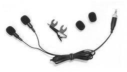Pyle PLMSH45 Dual Electret Condenser Cardioid Lavalier Microphones Wireless
