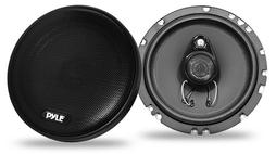 "Pyle Slim 6.5"" 16.5cm 17cm 200w Coaxial Three Way Pair Car Door Shelf Speakers"