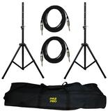 Pyle-Pro PMDK102 2 x Microphone Stand Kit Set With Bag & Cables Leads