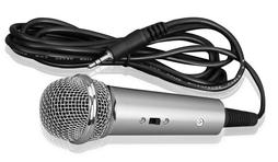 PylePro PMIKC20SL Vocal Condenser Microphone Computer Silver Karaoke Microphone