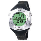 Pyle PSWDV60BK Diving Swimming Snorkeling Marine Watch Depth Temp Dive Log