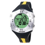 Pyle PSWDV60Y Diving Watch With Depth Temperature Auto Backlight Dive Log