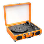 PVTT2UOR Rechargeable Retro Belt-Drive Turntable Built in Speakers & USB-to-PC