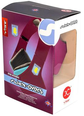 AVFC Aston Villa FC Official VIBE Over Ear Headphones Enchanced Sound Quality Thumbnail 5