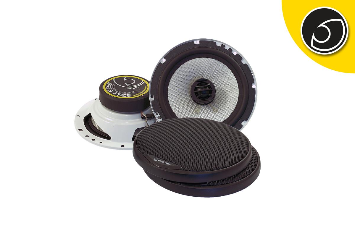 "Bassface SPL6.1 600w 6.5"" Inch 16.5cm 4Ohm Coaxial 2 Way Speaker Pair"