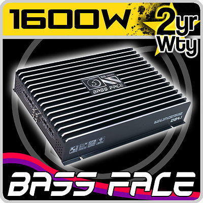 Bass Face 4 Ch Four Channel 1600w Black Bridgeable Car Speaker Amplifier Amp