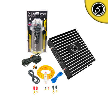 Bassface CAP2.1 DB2.1 800w Car Audio Amplifier 2 Farad Power Cap Wiring Package Thumbnail 1