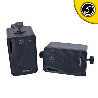 Bassface SPLBOX.1 200w 4Ohm Waterproof Mini Box Speaker Pair Thumbnail 1