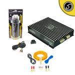 Bass Face 2000w Car Monoblock Amplifier | Power Cap | Wiring Kit Package Deal