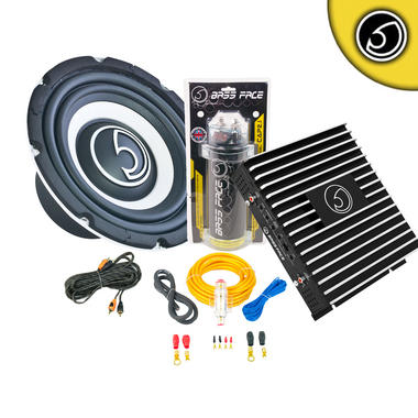 "Bassface SPL8.1 8"" Inch 800w Car Audio Sub Subwoofer Amp Kit Thumbnail 1"