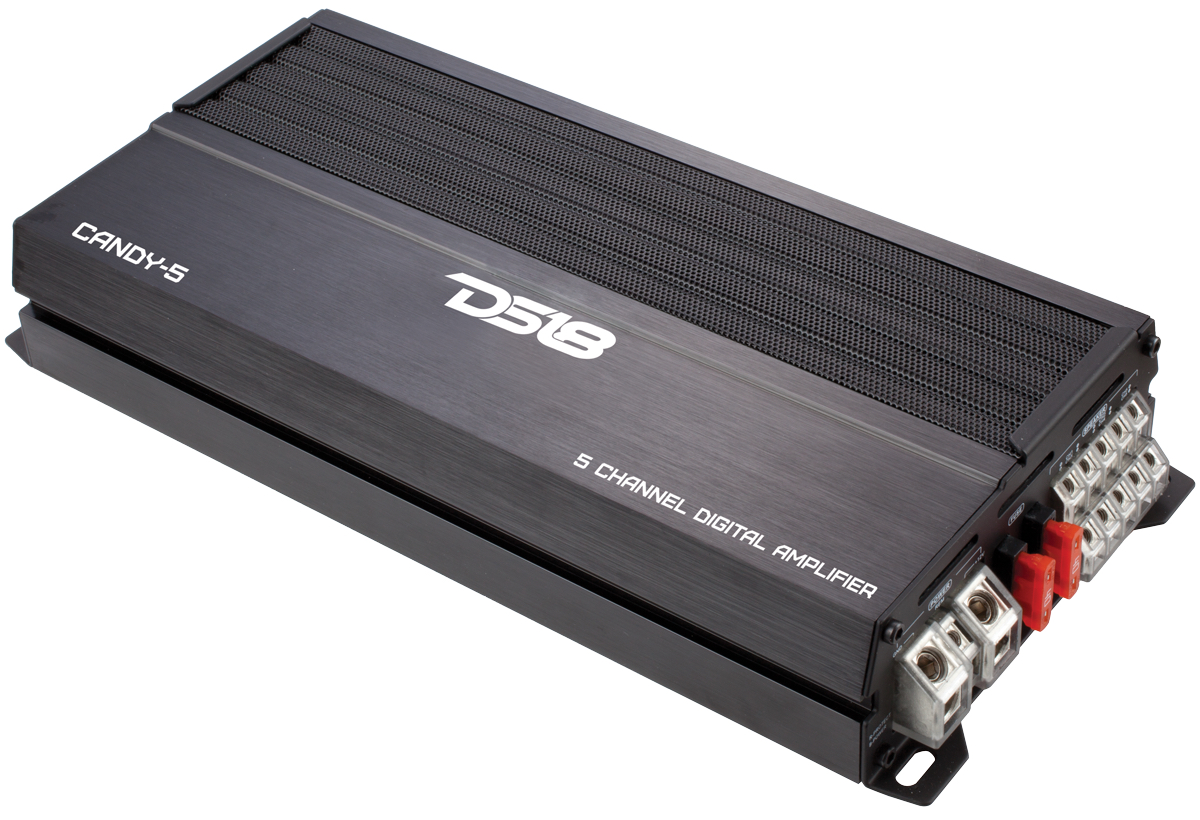 DS18 CANDY-5 Candy Series Car Audio 5 Channel Stereo 1500 Watt Amplifier