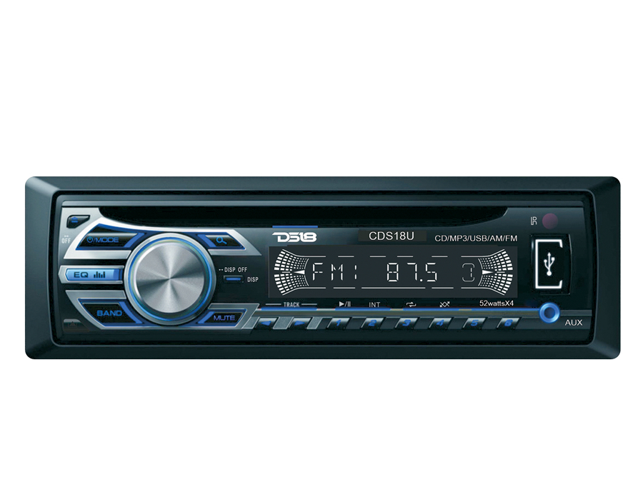 DS18 CDS18SU CD MP3 AUX USB Radio 52w x 4 Head Unit