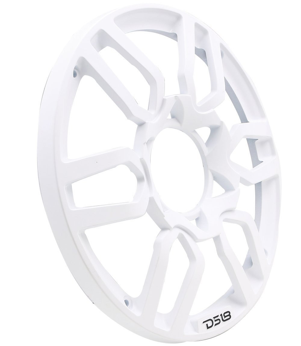DS18 PRO-GRILL10 WHITE Universal Subwoofer 10-Inch Plastic Grill Cover Pair