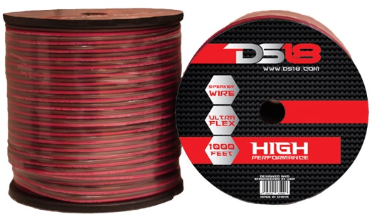 DS18 SW-18-GA-1000RB 1000 ft Foot 18 Gauge Speaker Cable