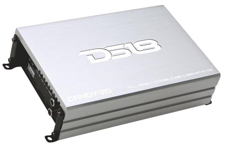 DS18 CANDY-2D Candy Series Car Audio 2 Channel Stereo 1000 Watt Amplifier