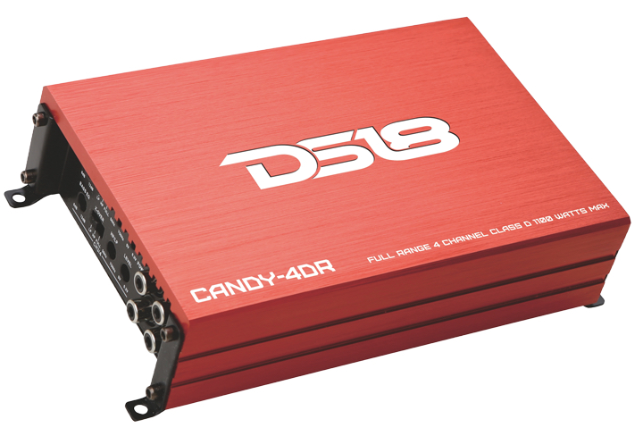 DS18 CANDY-4DR Candy Series Car Audio 4 Channel Stereo 1100 Watt Amplifier