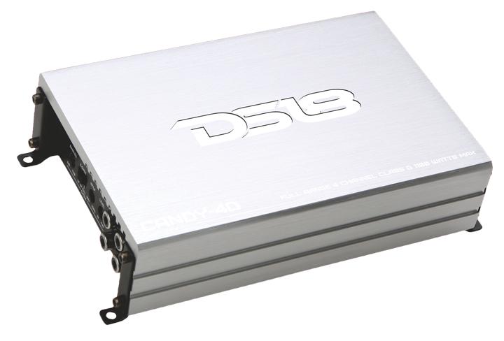 DS18 CANDY-4D Candy Series Car Audio 4 Channel Stereo 1100 Watt Amplifier