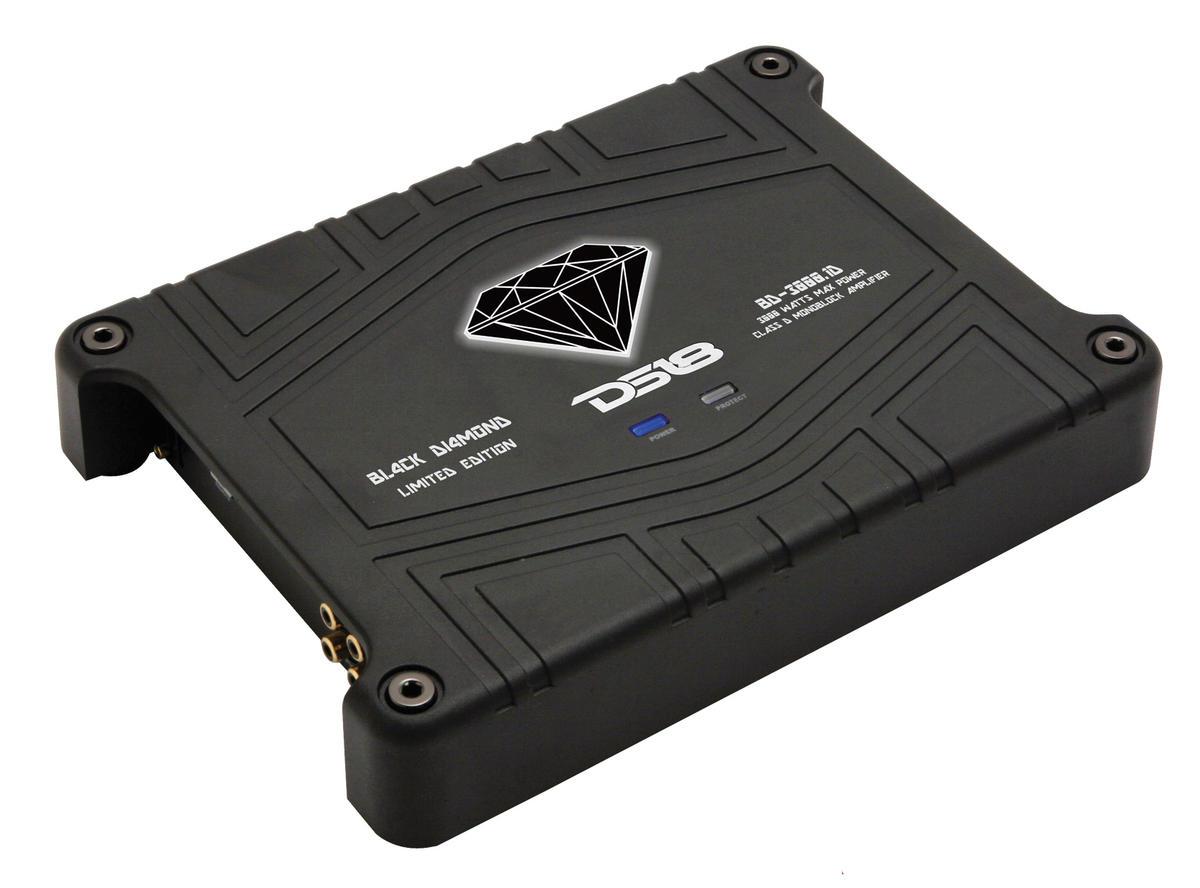 DS18 BD-3000.1 Black Diamond Car Audio Monoblock Class D 3000 Watt Amplifier
