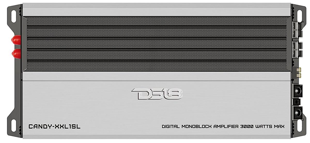 DS18 CANDY-XXL1SL Car Audio Silver 3000 Watts Monoblock Class D Amplifier Single