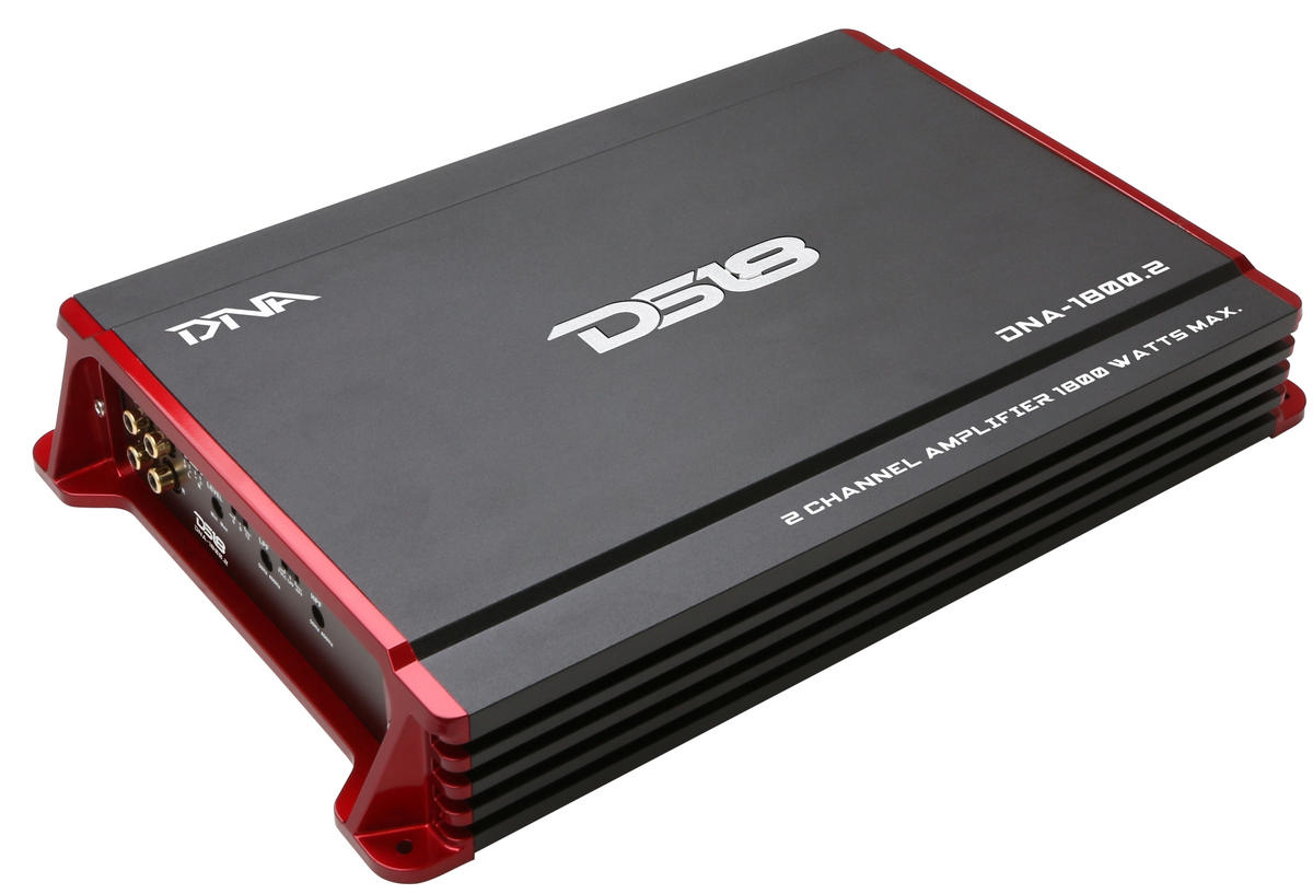 DS18 DNA-1800.2 DNA Series Car Audio 2 Channel Stereo 1800 Watt Amplifier