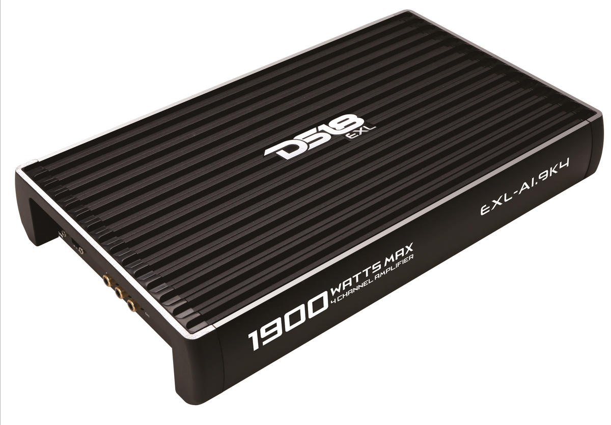 DS18 EXL-A1.9K4 EXL Series Car Audio 4 Channel Stereo 1900 Watt Amplifier