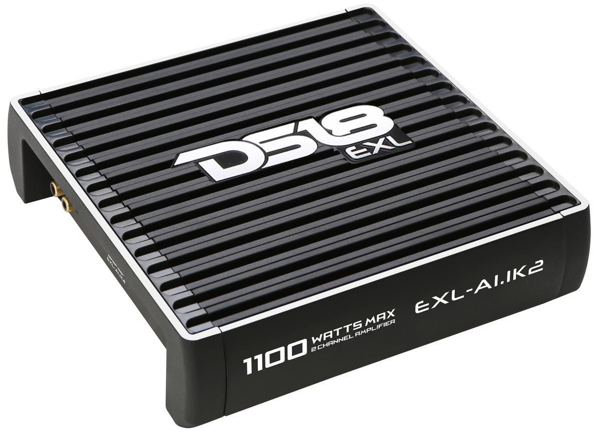 DS18 EXL-A1.1K2 EXL Series Car Audio 2 Channel Stereo 1100 Watt Amplifier