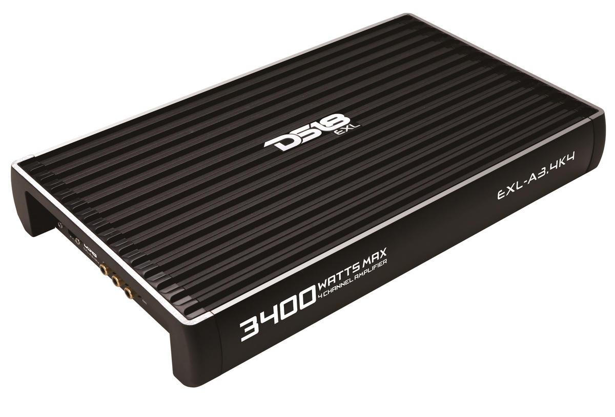 DS18 EXL-A3.4K4 EXL Series Car Audio 4 Channel Stereo 3400 Watt Amplifier