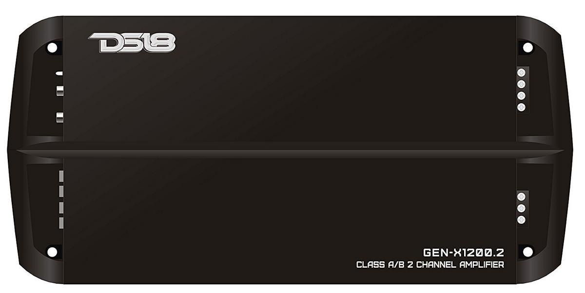 DS18 GEN-X1200.2 1200 Watts Car Audio 2 Channel Amplifier Bass Remote Knob Single