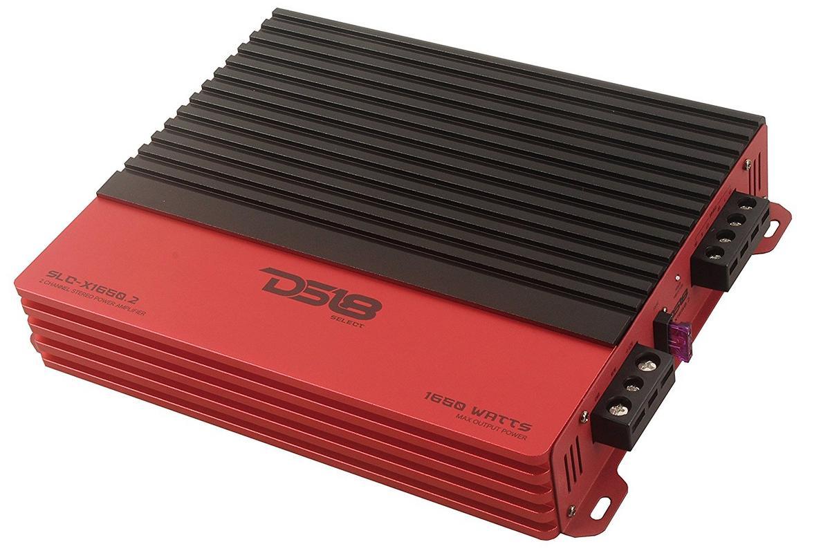 DS18 SLC-X1650.2 Car Audio 2 Channel Class AB Amplifier 1650 Watts Power Single