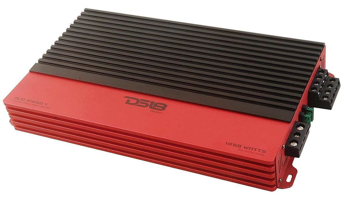 DS18 SLC-X1850.4 Car Audio 4 Channel Class AB Amplifier 1850 Watts Power Single