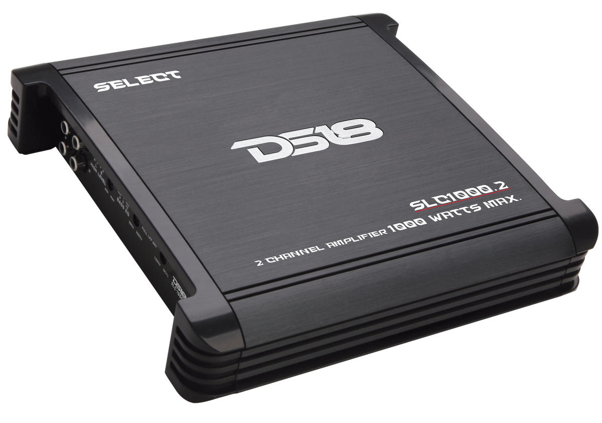 DS18 SLC1000.2 Select Series Car Audio 2 Channel Stereo 1000 Watt Amplifier
