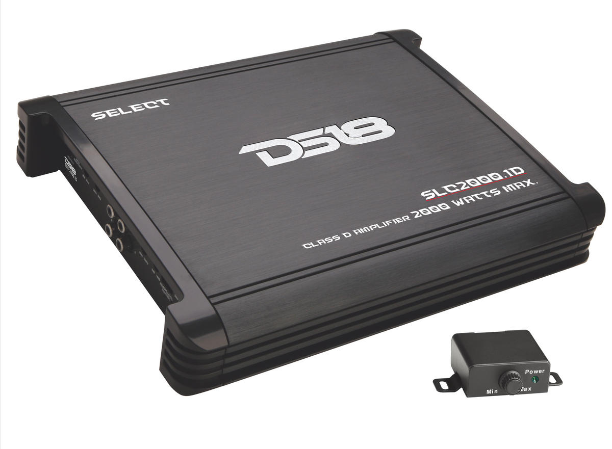 DS18 SLC1200.1 Select Series Car Audio Monoblock 1200 Watt Amplifier