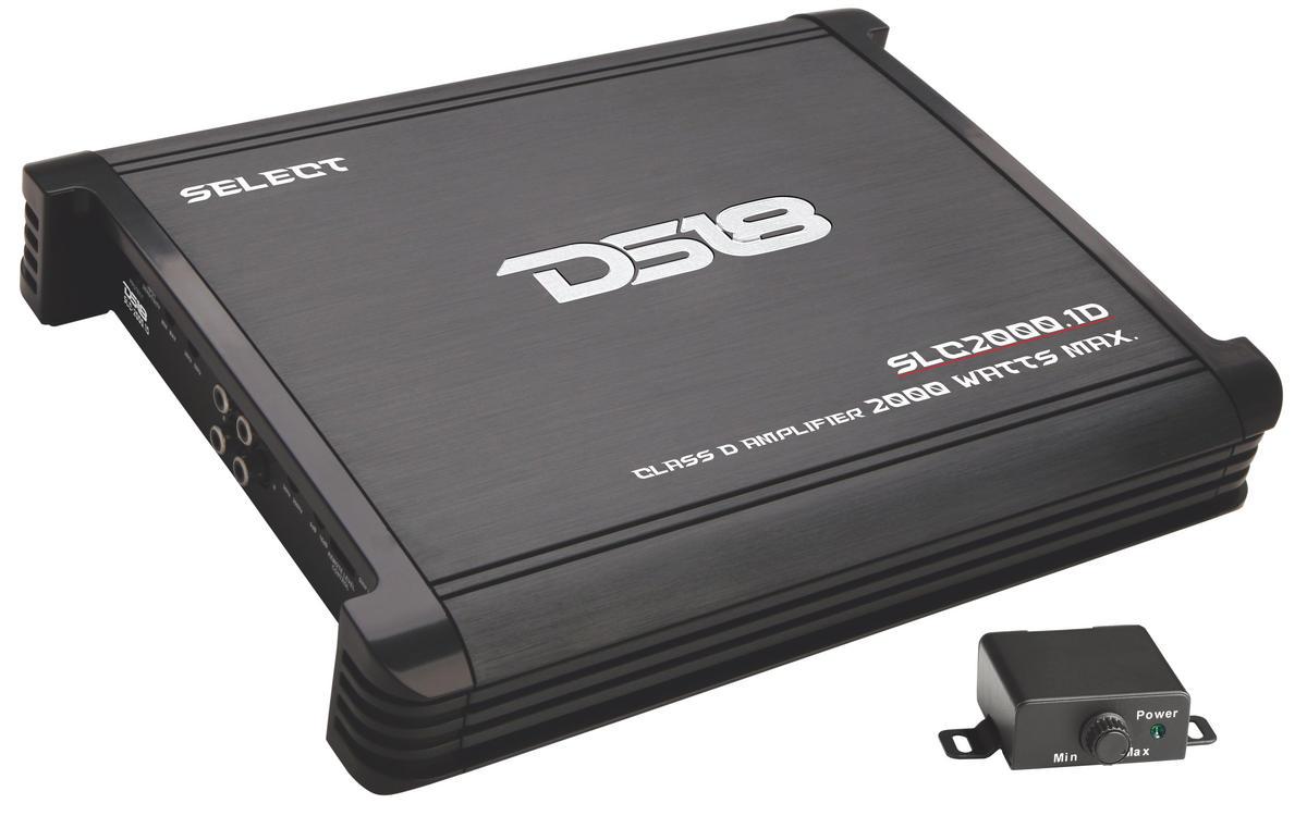 DS18 SLC2000.1 Select Series Car Audio Monoblock Class D 2000 Watt Amplifier